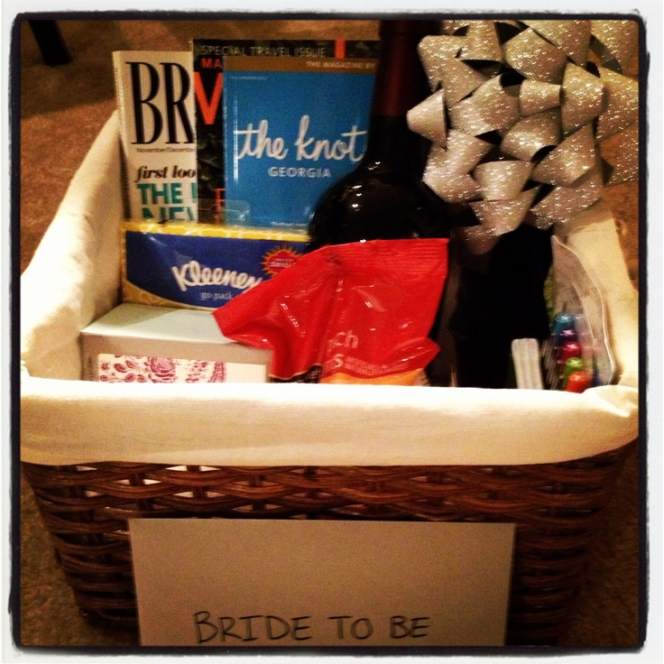 Wedding Gift Basket Notes : Engagement Basket: Bridal Magazines, Post It Notes, Thank You Cards ...