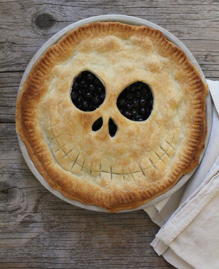 Jack Skellington Pie! Happy Halloween!                                                                                                                                                                                 More