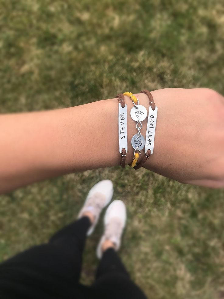 My kids bracelet from my Etsy shop https://www.etsy.com/ca/listing/516875174/my-kids-bracelet