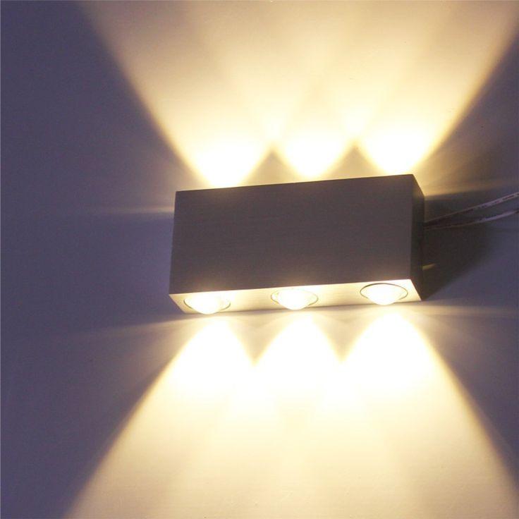16 € VINGO® 6W Wandlampe LED Flur Wandleuchten Aluminium Leuchte up down Beleuchtung - Innenleuchte & Aussen: Amazon.de: Beleuchtung