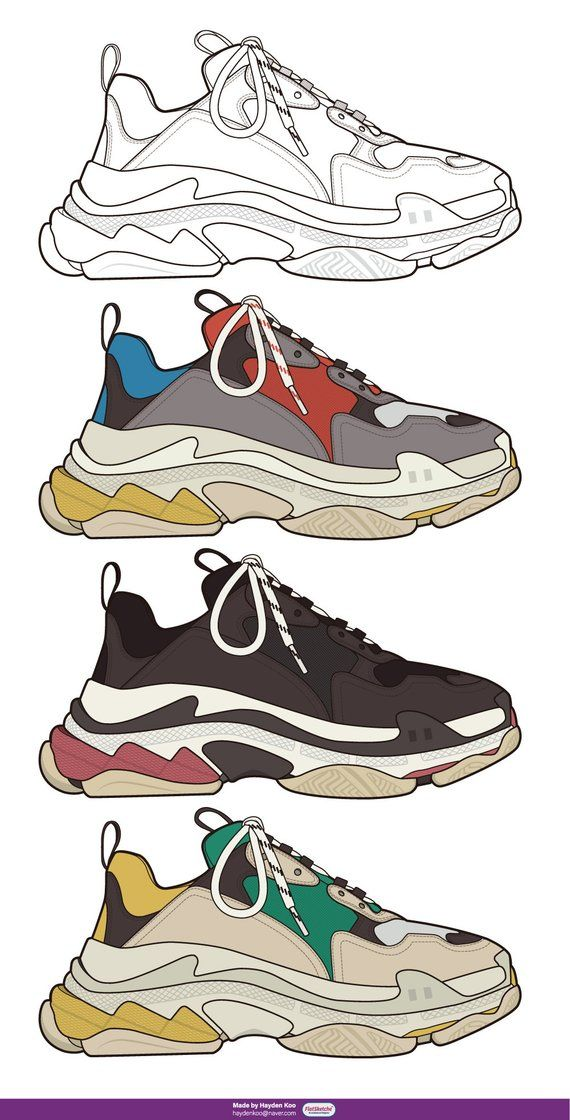 ad5834b65 Vector Shoes illustration in 2019