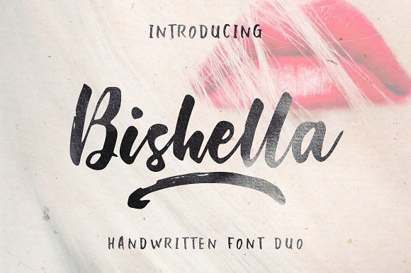 Bishella Script_Font Duo by pointlab on @creativemarket