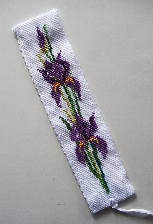 Irises Bookmark. CrossStitcher