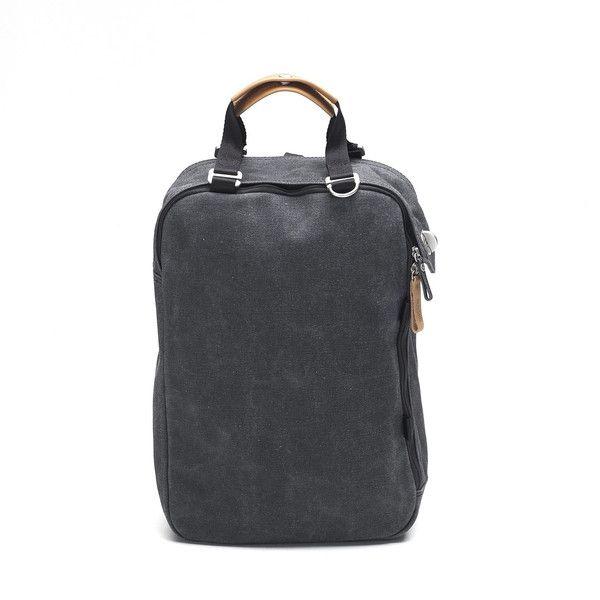 QWSTION Daypack Washed Black - www.belance.com.au