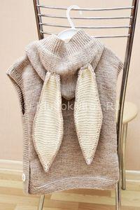 Жилетка Rabbit   Вязание для девочек   Вязание спицами и крючком. Схемы вязания.