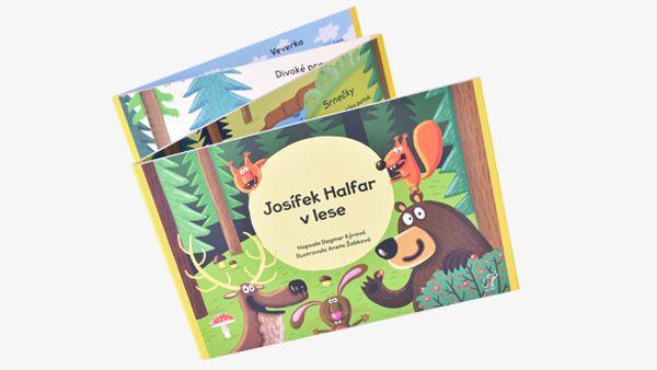 Zábavné leporelo, plné básniček z lesa pro děti o 1 roku