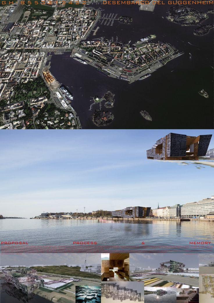Concurso para el museo Guggenheim de Helsinki #3D #rhino #vray #photoshop #architecture #museums #competition #guggenheim #helsinki