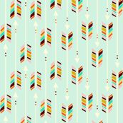 A Rain(bow) of Arrows: Mint - nadiahassan - Spoonflower
