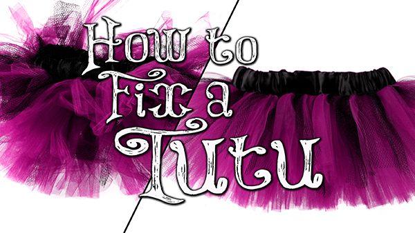 How to fix a wrinkled tutu