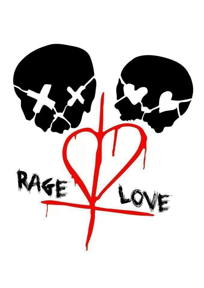 Rage & Love I want this as a tattoo...