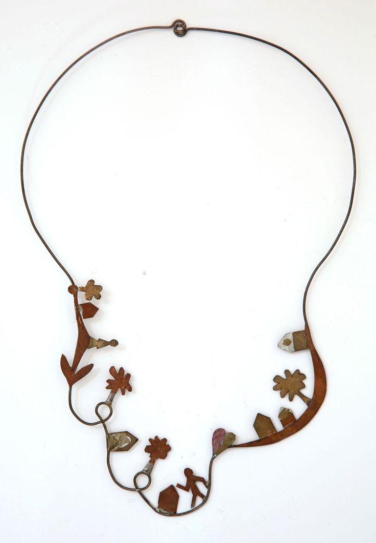 Riccardo Dalisi_1994  collana rame ottone e fil di ferro
