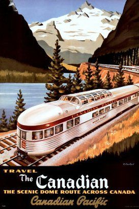 Vintage The Canadian of The Canadian Pacific Railway Travel Poster - See More @gr8traveltips