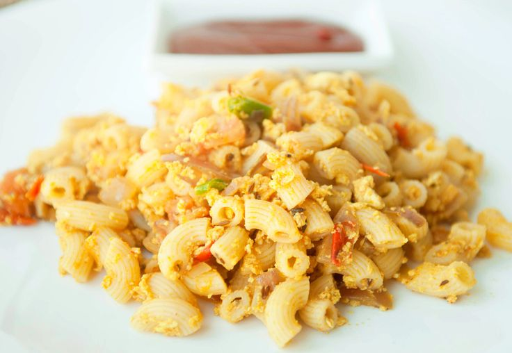 MaC & EGG  Another of my cabin crew days' inventions! As we became seniors in the airline, our schedules were absolutely crazy. Literally living out of a suitcase!   This came in handy as it is a very quick recipe and very filling too. One of my all time favorites.