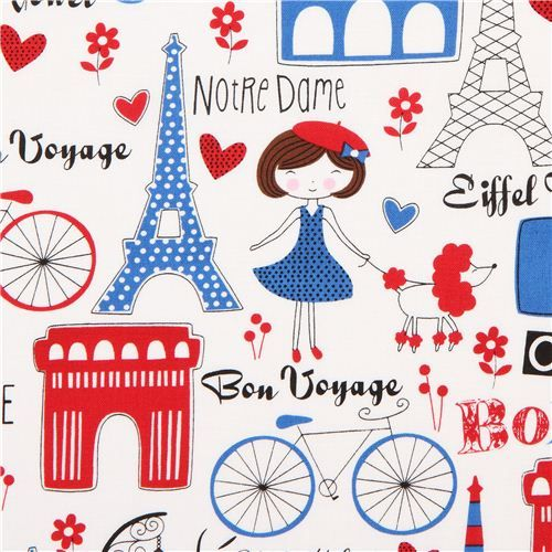 Timeless Treasures Paris France fabric Awesome blanket idea