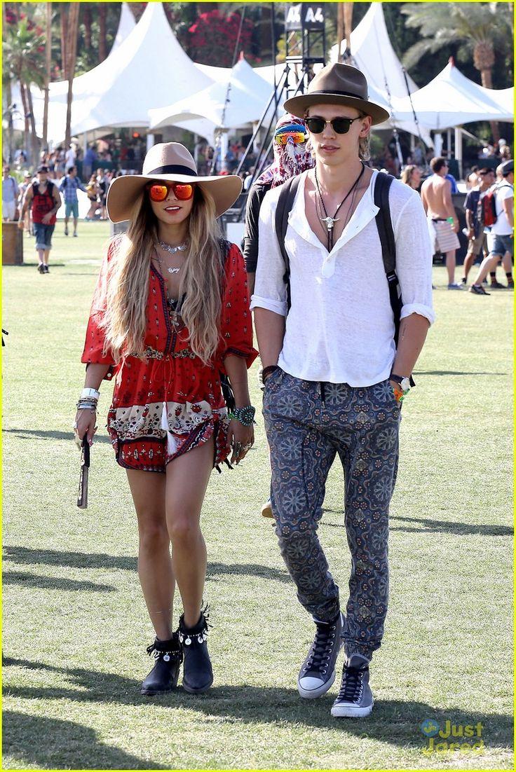Vanessa Hudgens & Austin Butler: Hot Hat Couple at Coachella 2014 | vanessa hudgens austin butler hot hat couple 01 - Photo