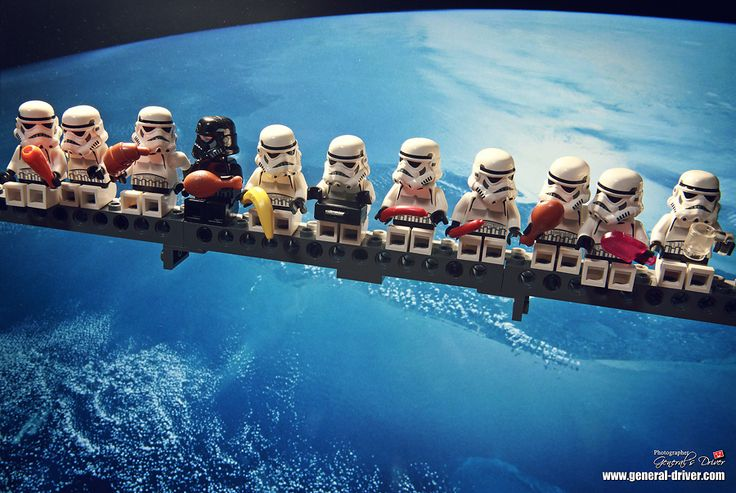 Not a huge Star Wars nerd, but thought this was cool. Love the random pieces of lego food ... BANANA!