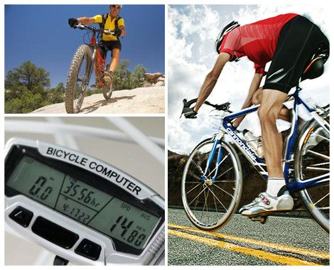 Monitor your progress every step of the way!  Grab a Digital LCD Backlight Bicycle Computer Odometer for $18 from Firstin Ltd.  Displays information about riding speed, and includes a stopwatch and thermometer