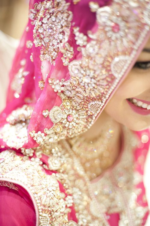 Detailing - pink indian wedding