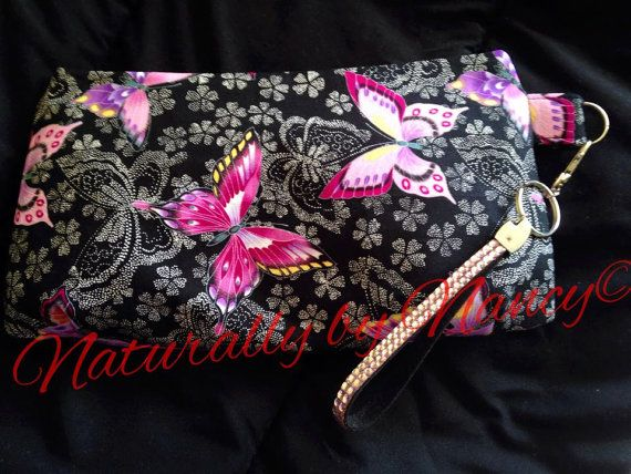 Cute butterfly clutch, perfect for a make-up/toiletries bag.