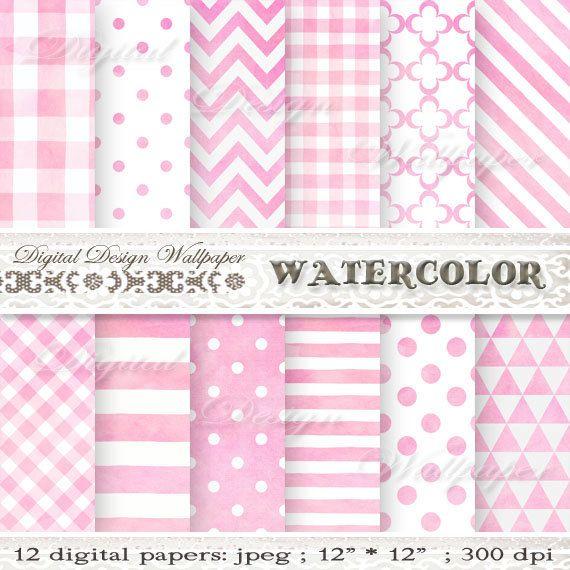 Digital Paper PinkPink Digital Paper by DigitalDesignPaper on Etsy