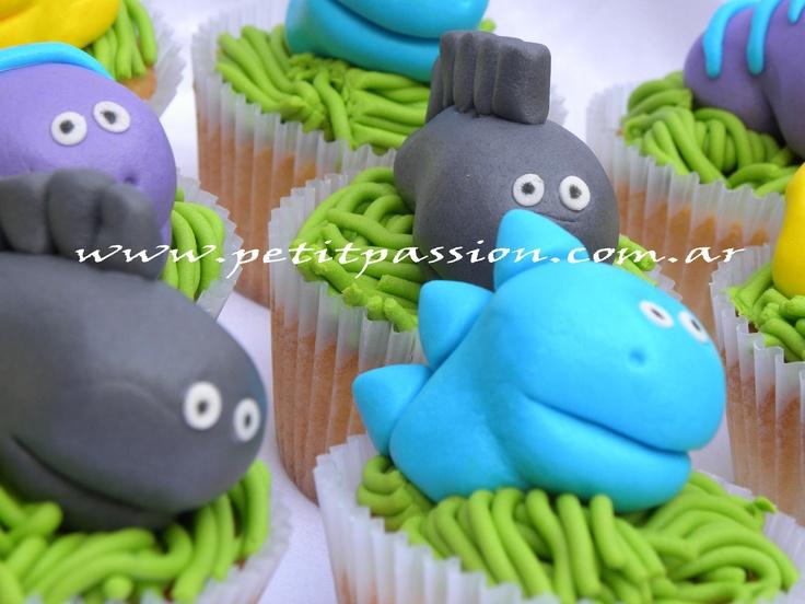 Cupcakes Dinosaurios