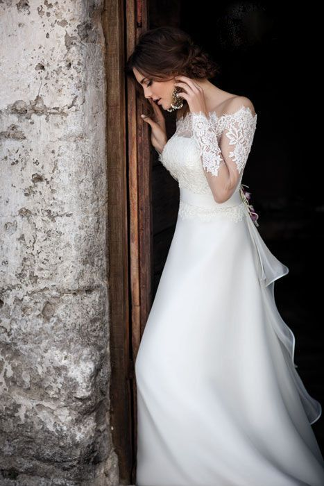 Fabulous Italian wedding dress 100 silk by YourWeddings on Etsy, $499.00