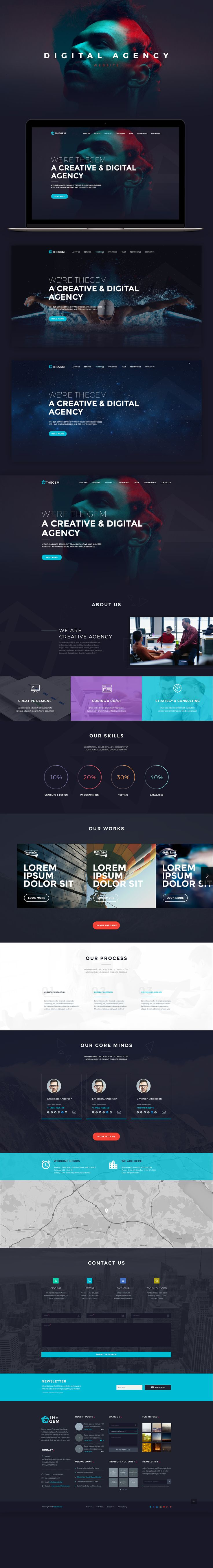 Digital agency website template.