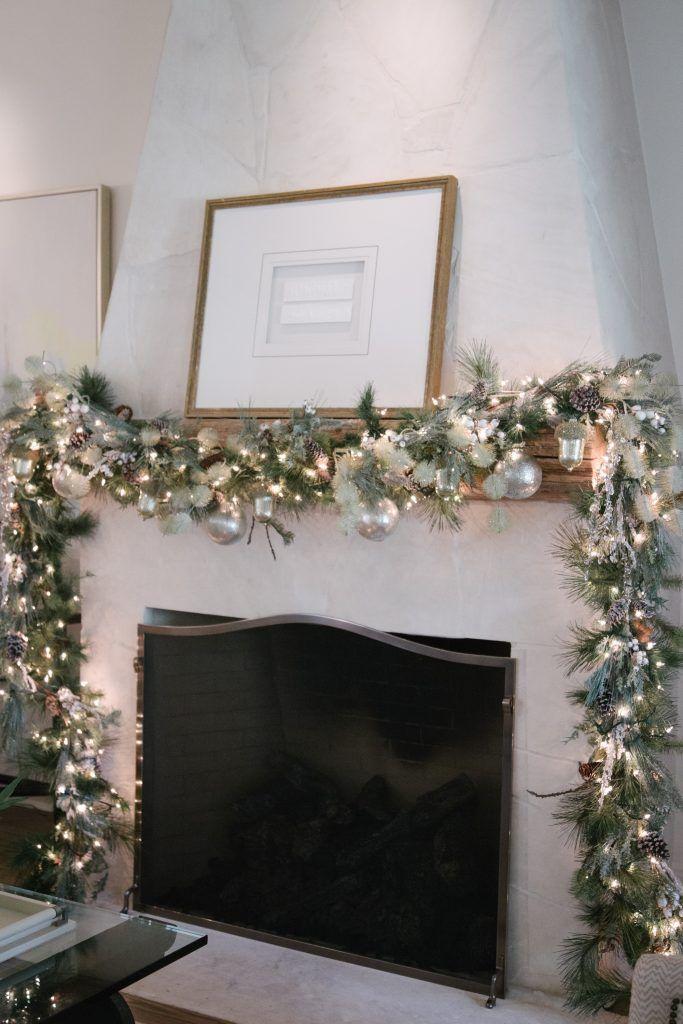 25 b sta fireplace garland id erna p pinterest for Christmas garland on fireplace