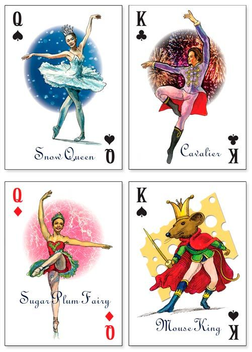 nutcracker ballet pictures | Nutcracker Ballet Playing Cards by Prospero Art