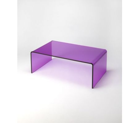 Even though it's totally transparent, you cannot miss the POP of the Purple Acrylic cocktail table. The super modern design will express your chic style and show off your great taste.