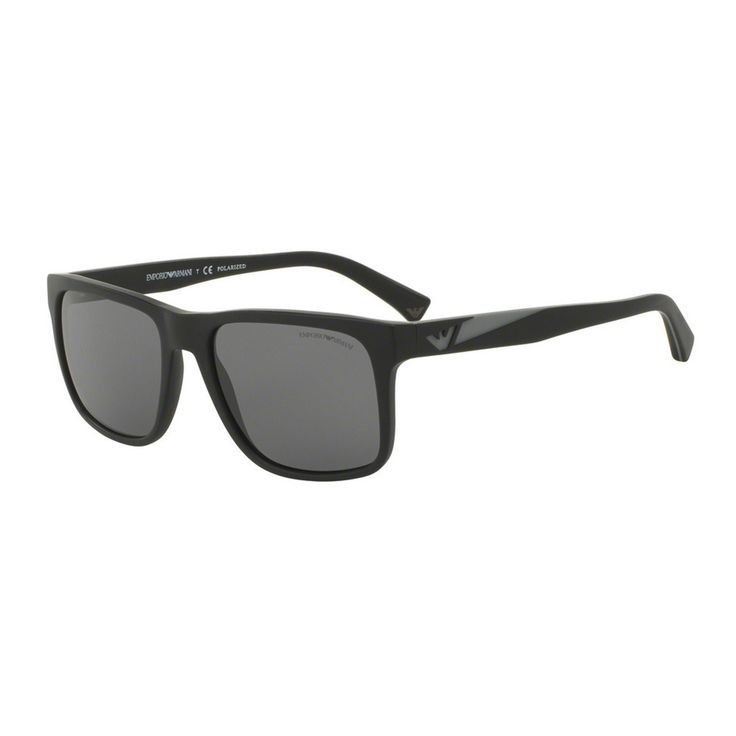 Emporio Armani Men's EA4071 504281 Black Plastic Square Sunglasses define the Italian tradition of fine craftsmanship and are based on modern optimism, open mindedness and value. Emporio Armani EA4071