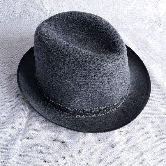 Vintage Men's Felt hat Men's hat Vintage от USSRVintageShopUSSR