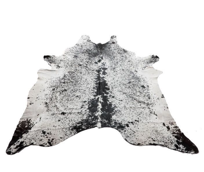Light Salt & Pepper Natural Cowhide Rug - Cowhide Rugs Online