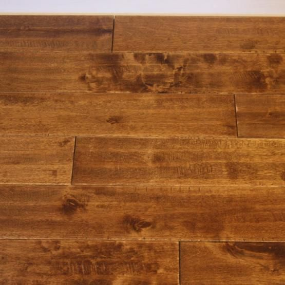Birch fawn 3 4 x 4 3 4 hand scraped solid hardwood for Hardwood floors and more