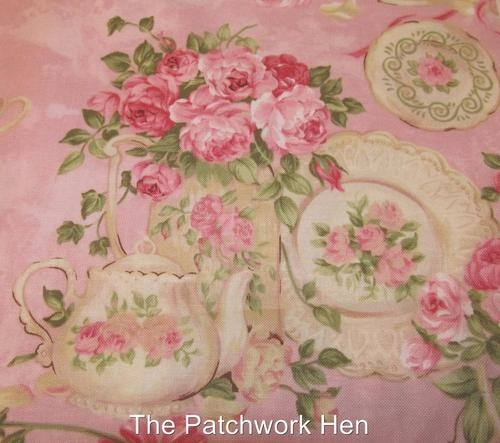 Shabby Cottage Chic Rose Garden Tea For Two Fabric By Ro Gregg 2667 The Yard