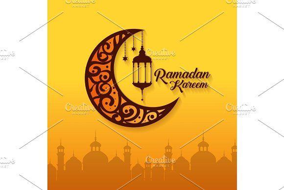 Ramadan Kareem Card With Lanterns In 2020 Ramadan Kareem Ramadan Kareem