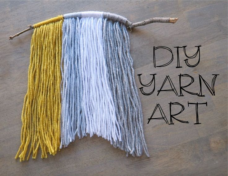DIY: YARN WALL ART