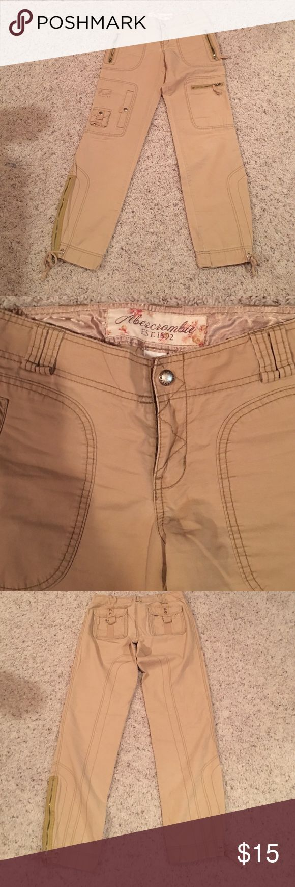 Abercrombie &Fitch Vintage Abercrombie utility pants. Size 2. Excellent condition Abercrombie & Fitch Pants