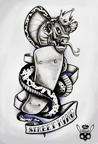 #design #tattoo #designtattoo para el pana Romulo Martinez #streetking #skate #skatetattoo #misshask #street #snake