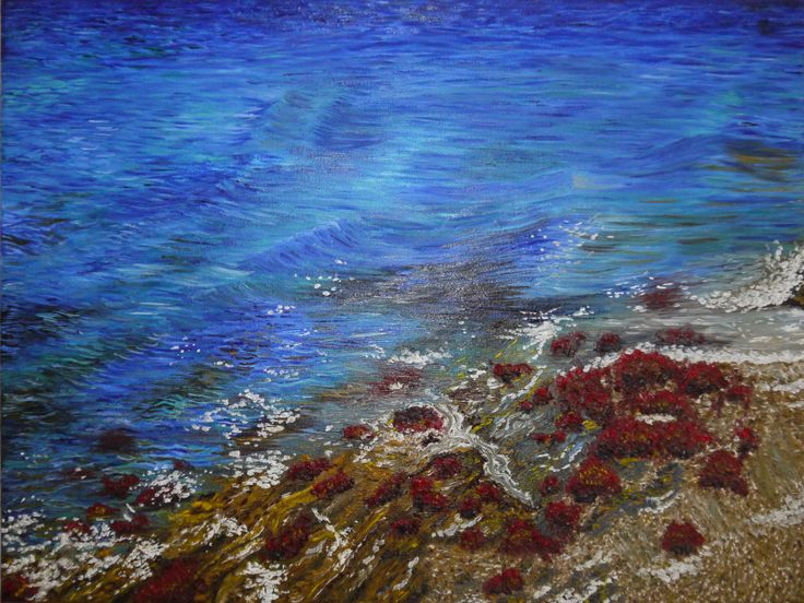 This was inspired by a photograph I took in Cornwall. I painted this using oil paint. Painted by Sarah Fenn