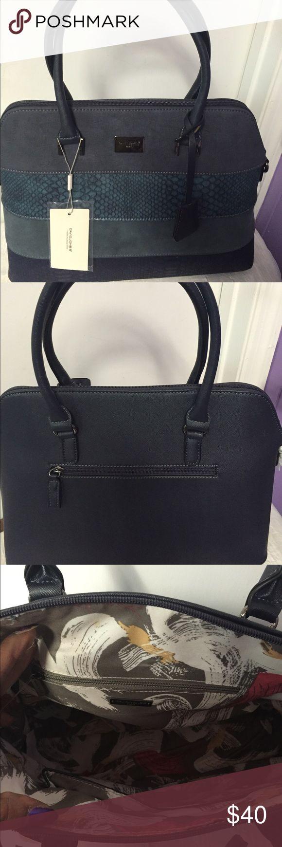 David Jones Handbag Detachable Strap, Suede like material, 2 Tone david jones Bags Shoulder Bags