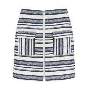 Zanita Stripe Zip Front Mini Skirt Stripe - Womens Fashion | Forever New