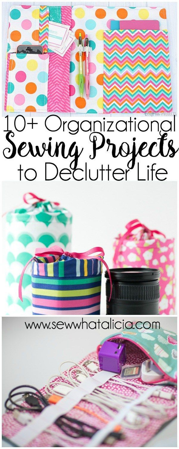 10+ Sewing Projects to Organize Your Life | Are you ready to get organized. Do you love to sew? Here is the perfect collection of projects for you! Click through for a full list of organizational sewing projects! | www.sewwhatalicia.com