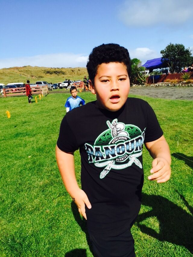 George Jack Wijohn competing at 2015 North Hokianga Cross Country Competitions at Mitimiti.