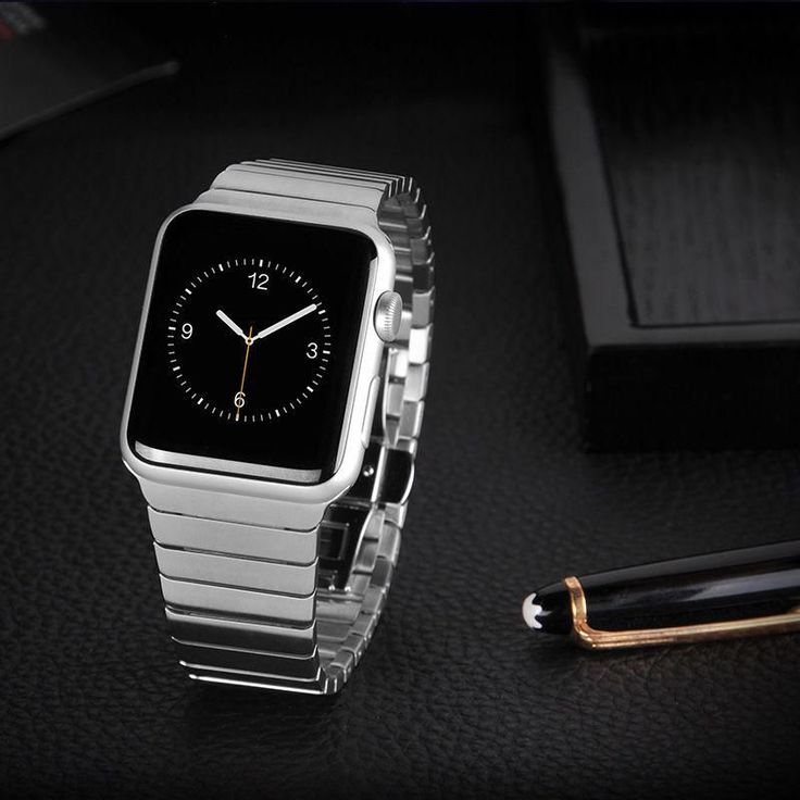 Buy Hoco Butterfly Lock Third party Link Bracelet 316L Stainless Steel Band Strap for Apple Watch 38mm and 42mm, free shipping with Black Color at Honest price.