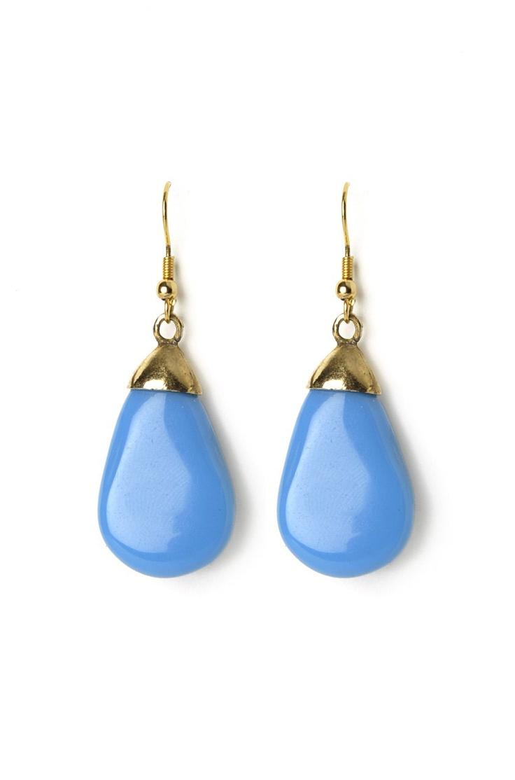 Blue Resin-g The Bar Earrings @ www.juvalia.in
