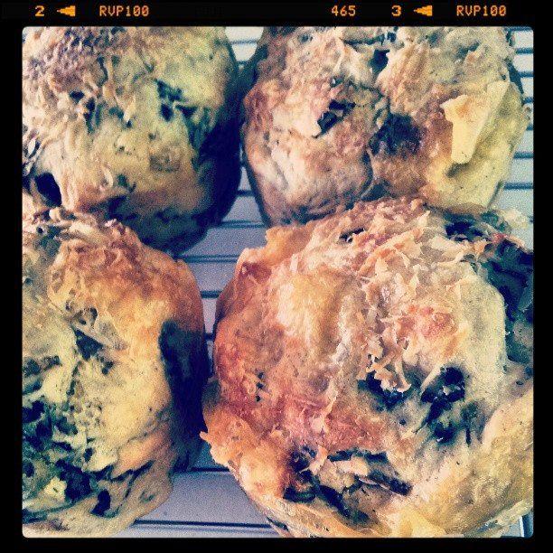 swiss chard & brie muffins
