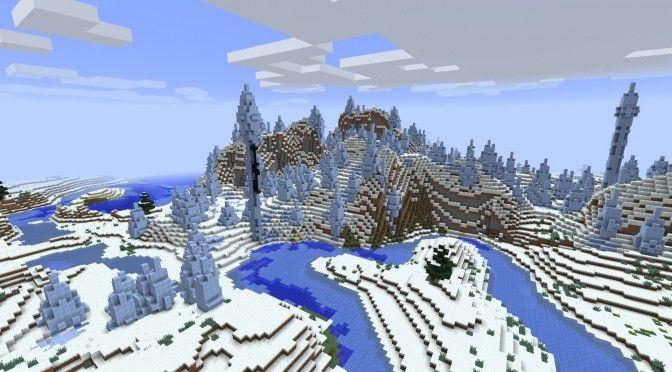 Ice Plain Spikes Biome - Minecraft 1.8