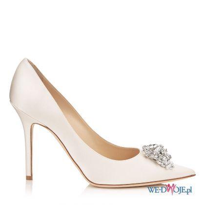 buty ślubne Jimmy Choo z broszką #polkipl