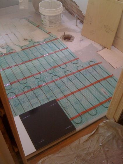 Images Photos Heated Floors to provide fort any time of the year using electric radiant heat has an electrical current that us applied to a heating element